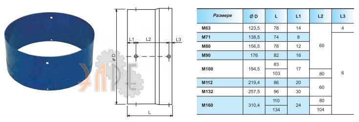 Удлинитель кожуха вентилятора Carpanelli M63 M - IP55.