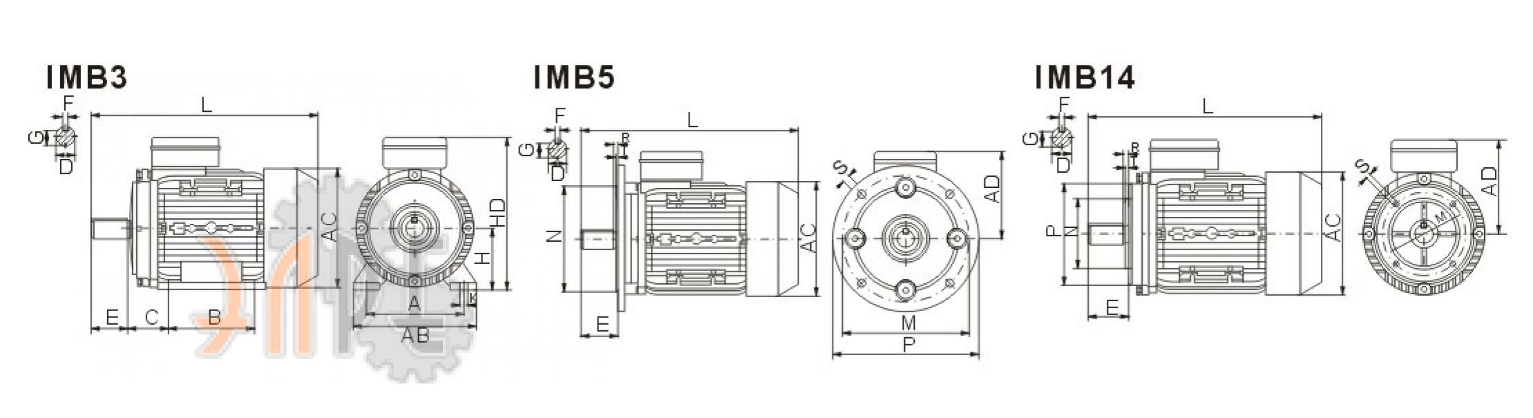 Электродвигатель ABLE MY90S-2 1Ф 1,5кВт купить