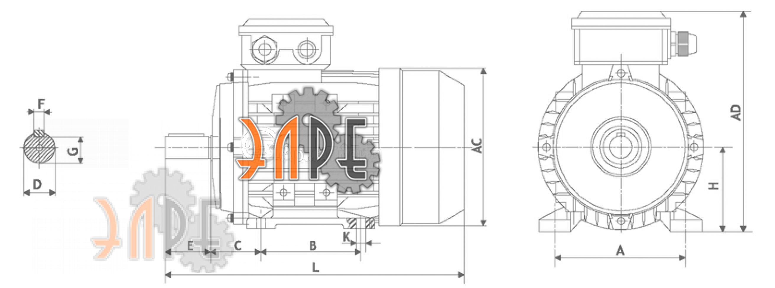 Исполнение на лапах схема АИС112М4