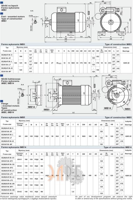 Универсальный однофазный электродвигатель Cantoni (Вesel)