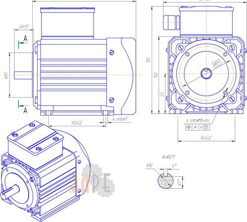 Схема и габаритные размеры ДАТ 63-180-3,0