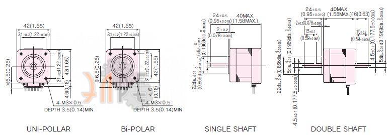 Nidec-Servo KH42JM2-903 схема и габаритные размеры