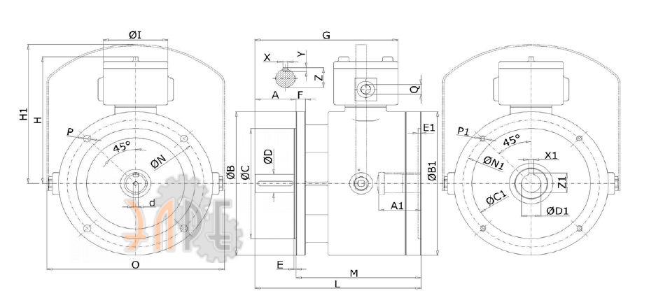 Взрывозащищённый тормоз VIS ATEX типразмер 100 прайс